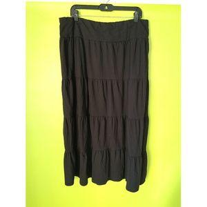 Basic Editions Gypsy Bohemian Tier Skirt Sz XXL